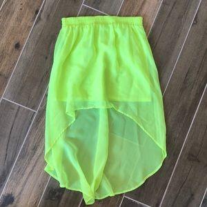 High low festival skirt